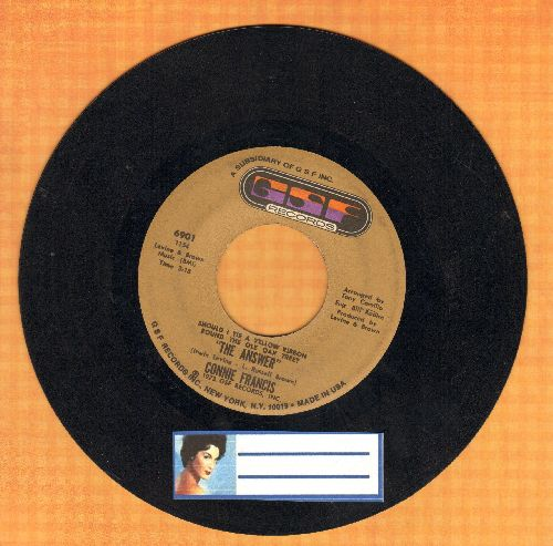 Francis, Connie - Should I Tie A Yellow Ribbon Round The Old Oak Tree (The Answer)/Paint The Rain - EX8/ - 45 rpm Records