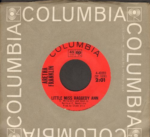 Franklin, Aretha - Little Miss Raggedy Ann/Can't You Just See Me (with vintage Columbia company sleeve) - NM9/ - 45 rpm Records