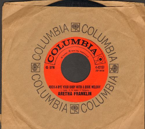 Franklin, Aretha - Rock A-Bye Your Baby With A Dixie Melody/Operation Heartbreak (with Columbia company sleeve) - EX8/ - 45 rpm Records