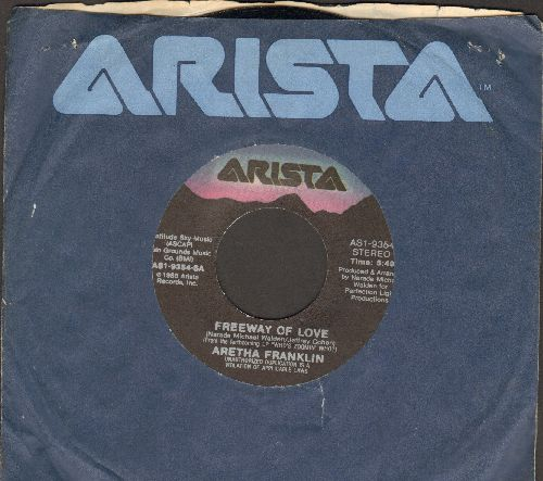 Franklin, Aretha - Freeway Of Love/Until You Say You Love Me (with Arista company sleeve) - EX8/ - 45 rpm Records