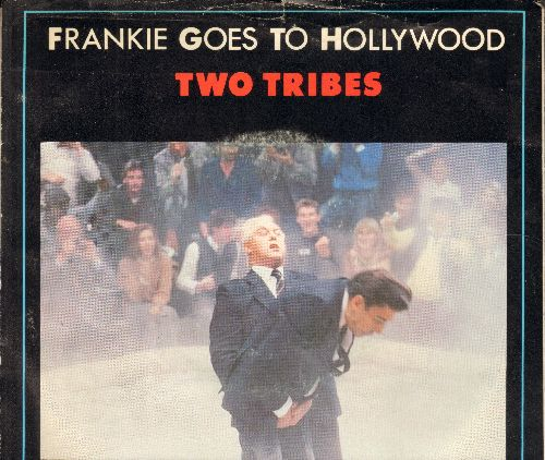 Frankie Goes To Hollywood - Two Tribes/One February Friday (with picture sleeve) - NM9/EX8 - 45 rpm Records
