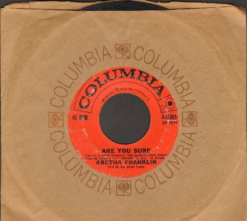 Franklin, Aretha - Are You Sure/Maybe I'm A Fool (with vintage Columbia company sleeve) - VG6/ - 45 rpm Records