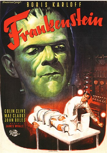 Frankenstein - Frankenstein (1931) - Classic Movie Poster. 12 X 16 inch full-color reproduction on heavy card board, suitable for framing!  - M10/ - Poster