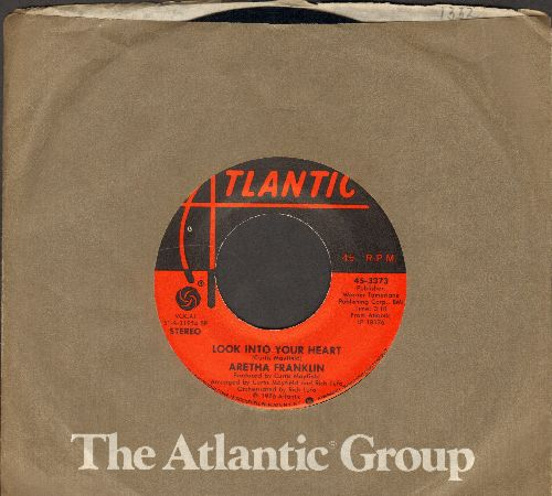 Franklin, Aretha - Look Into Your Heart/Rock With Me (with Atlantic company sleeve) - EX8/ - 45 rpm Records