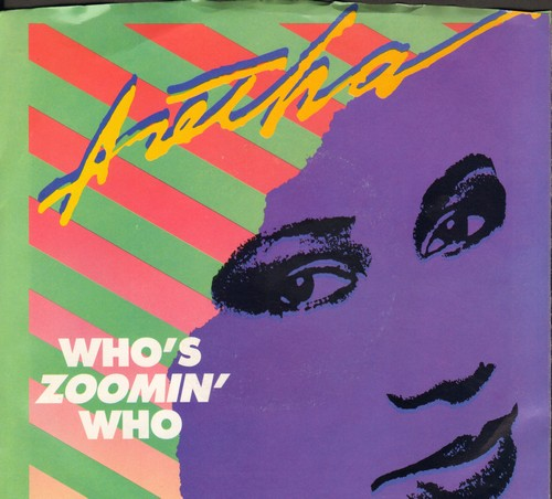 Franklin, Aretha - Who's Zoomin' Who/Sweet Bitter Love (with picture sleeve) - NM9/EX8 - 45 rpm Records