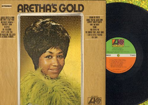 Franklin, Aretha - Aretha's Gold: Respect, (You Make Me Feel Like) A Natural Woman, You Send Me, I Say A Little Prayer, Think (vinyl STEREO LP record) - VG7/EX8 - LP Records