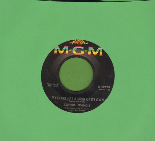 Francis, Connie - My Heart Has A Mind Of Its Own/Malaguena - EX8/ - 45 rpm Records