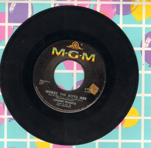Francis, Connie - Where The Boys Are/No One - VG7/ - 45 rpm Records