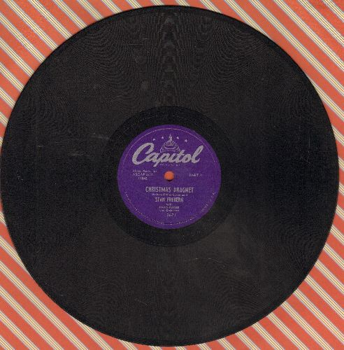 Freberg, Stan - Christmas Dragnet (Parts 1 + 2) (10 inch 78rpm record) - EX8/ - 78 rpm