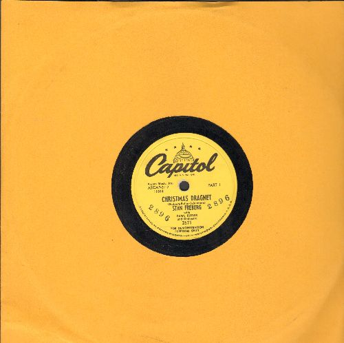 Freberg, Stan - Christmas Dragnet (Parts 1 + 2) (10 inch 78rpm record, RARE DJ advance pressing) - EX8/ - 78 rpm