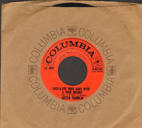 Franklin, Aretha - Operation Heartache/Rock-A-Bye Your Baby With A Dixie Melody (NICE condition with vintage Columbia company sleeve) - NM9/ - 45 rpm Records