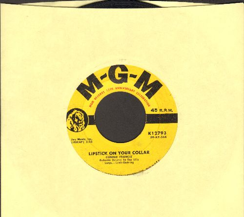 Francis, Connie - Lipstick On Your Collar/Frankie (yellow label first issue) - VG7/ - 45 rpm Records