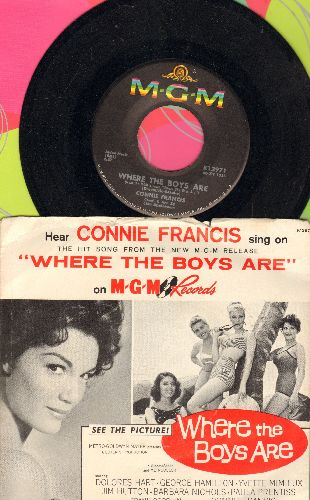 Francis, Connie - Where The Boys Are/No One (with picture sleeve) - NM9/VG7 - 45 rpm Records