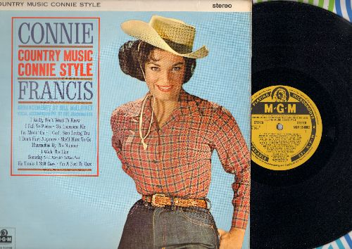 Francis, Connie - Country Music Connie Style: I Fall To Pieces, I Really Don't Want To Know, I Walk The Line, Heartaches By The Number, I Can't Stop Loving You (vinyl STEREO LP record, British Pressing) - EX8/EX8 - LP Records