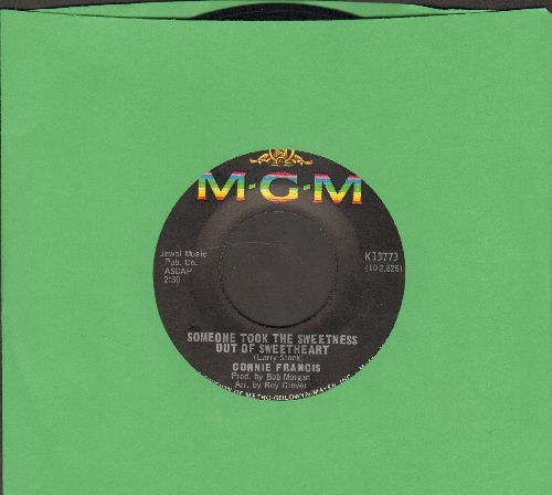 Francis, Connie - Someone Took The Sweetness Out Of Sweetheart/My Heart Cries For You - NM9/ - 45 rpm Records