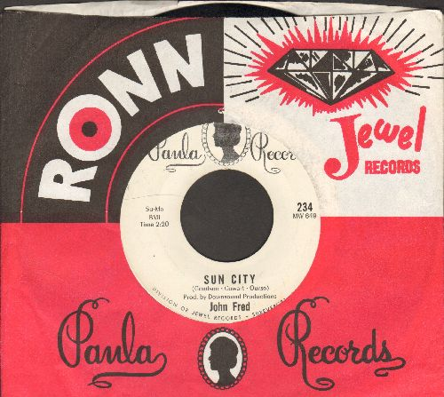 Fred, John - Sun City/Can't I Get (A Word In) (with RARE Paula company sleeve) - EX8/ - 45 rpm Records