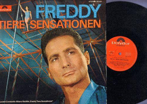 Freddy (Quinn) - Freddy, Tiere, Sensationen:  So ein Tag so wunderschon wie heute, Circus-Twist, Wo unser Zelt steht, Manege frei (vinyl STEREO LP record, German Pressing, sung in German) - NM9/NM9 - LP Records