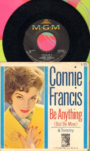 Francis, Connie - Tommy/Be Anything (But Be Mine) (with picture sleeve) - NM9/EX8 - 45 rpm Records