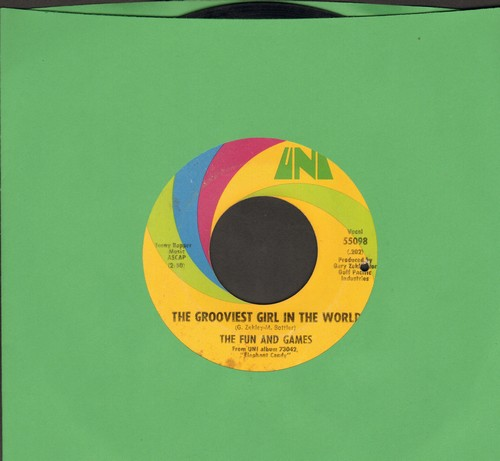 Fun And Games - The Grooviest Girl In The World/It Must Have Been The Wind (bb) - EX8/ - 45 rpm Records