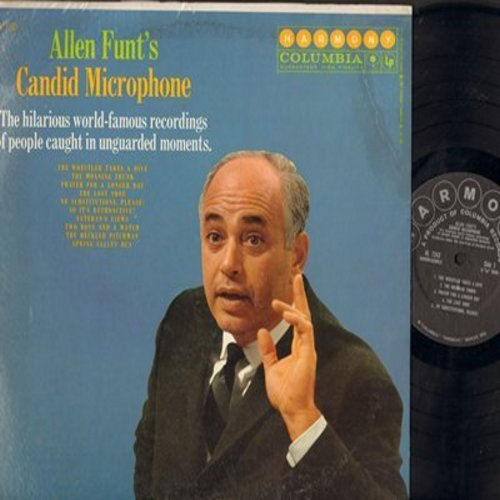 Funt, Allen - Allen Funt's Candid Microphone - The hilarious world-famous recordings of people in unguarded moments (vinyl MONO LP record) - M10/VG7 - LP Records