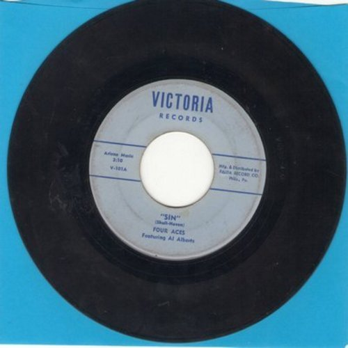 Four Aces - Sin/Arizona Moon - VG7/ - 45 rpm Records