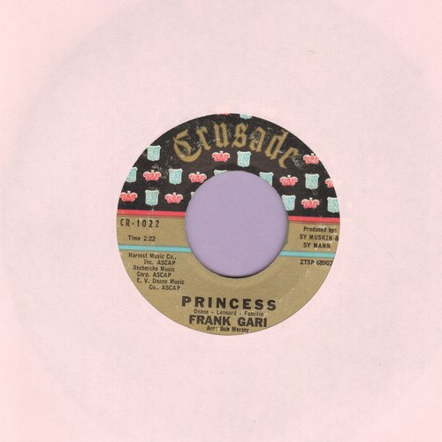 Gari, Frank - Princess/The Last Bus Left At Midnight - VG7/ - 45 rpm Records