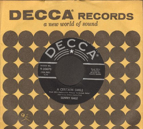Gale, Sunny - Just Friends/A Certain Smile (with Decca company sleeve) - NM9/ - 45 rpm Records
