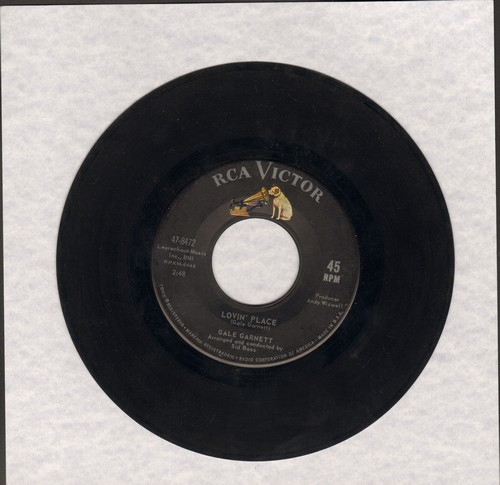 Garnett, Gale - Lovin' Place/I Used To Live Here - EX8/ - 45 rpm Records