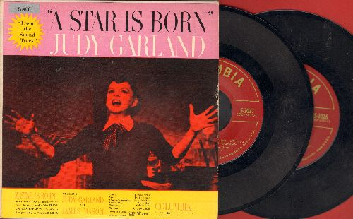 Garland, Judy - A Star Is Born - Set of 2 vinyl EP record with gate-fold picture cover - NM9/NM9 - 45 rpm Records