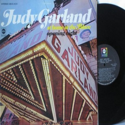 Garland, Judy - At Home At The Palace - Opening Night: Ol' Man River, Medley: The Trolley Song/Over The Rainbow/The Man That Got Away, Almost Like Being In Love, That's Entertainment (vinyl STEREO LP record) - NM9/EX8 - LP Records