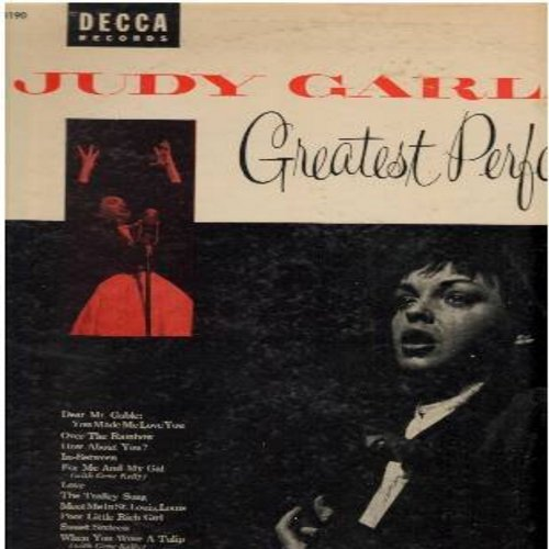 Garland, Judy - Great Performances: Dear Mr. Gable (You Made Me Love You), Over The Rainbow, The Trolley Song, You'll Never Walk Alone (vinyl MONO LP record, multi-color label issue) - NM9/VG7 - LP Records