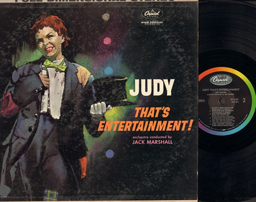 Garland, Judy - That's Entertainment!: Putting On The Ritz, Old Devil Moon, It Never Was You, Alone Together, If I Love Again (vinyl STEREO LP record, rainbow circle 1960s pressing) - NM9/VG7 - LP Records