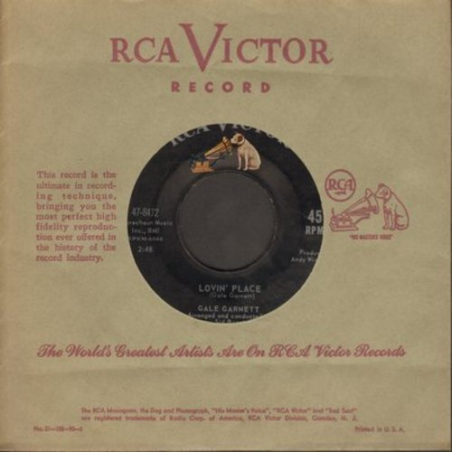 Garnett, Gale - Lovin' Place/I Used To Live Here (with RCA company sleeve) - EX8/ - 45 rpm Records