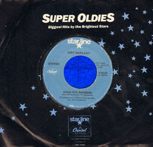 Garland, Judy - Over The Rainbow/Maybe I'll Come Back (MINT condition 1970s issue of vintage recordings) - M10/ - 45 rpm Records