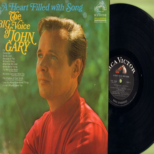 Gary, John - A Heart Filled With Song: Till, What Now My Love, Yesterday, Love Is A Many-Splendored Thing (vinyl MONO LP record) - M10/NM9 - LP Records