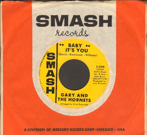 Gary & The Hornets - Baby It's You/Tell Tale (DJ advance pressing with vintage Smash company sleeve) - EX8/ - 45 rpm Records
