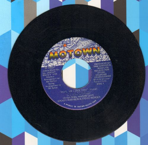 Ross, Diana, Marvin Gaye, Smokey Robinson & Stevie Wonder - Pops, We Love You (Vocal & Instrumental) - EX8/ - 45 rpm Records