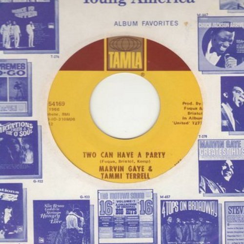 Gaye, Marvin & Tammi Terrell - You're All I Need To Get By/Two Can Have A Party (with Motown company sleeve) (wol) - VG7/ - 45 rpm Records
