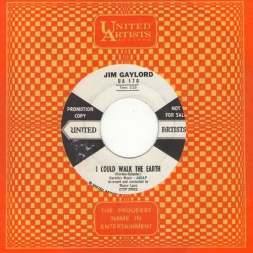 Gaylord, Jim - I Could Walk The Earth/I Apologize (DJ advance pressing with United Artists company sleeve) - EX8/ - 45 rpm Records