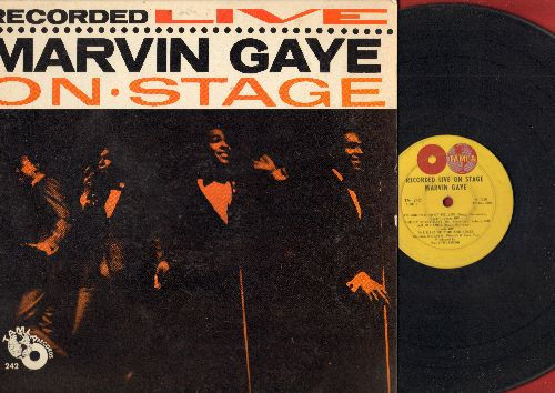 Gaye, Marvin - Recorded Live On Stage: Stubborn Kind Of Fellow, Pride And Joy, You Are My Sunshine (vinyl MONO LP record, vinyl very worn, cover nice condition) - G4/EX8 - LP Records