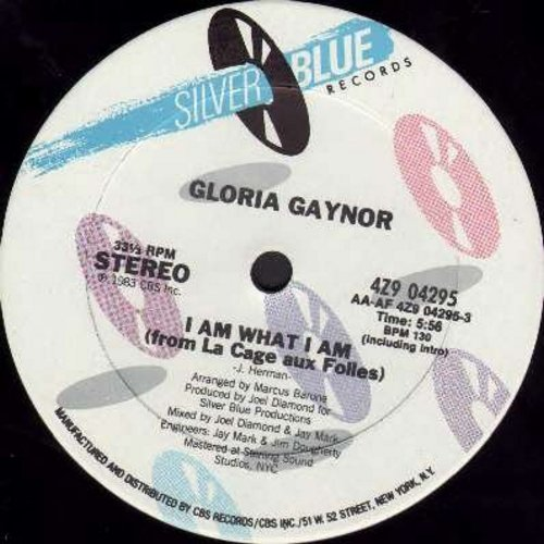 Gaynor, Gloria - I Am What I Am (5:56 minutes Extended Dance Version)/I Am What I Am (5:10 minutes Dub Mix) (12 inch 33rpm vinyl Maxi Single) - NM9/ - Maxi Singles