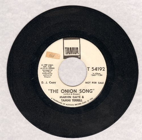 Gaye, Marvin & Tammi Terrell - The Onion Song (double-A-sided DJ advance pressing) (wol, sol) - VG7/ - 45 rpm Records