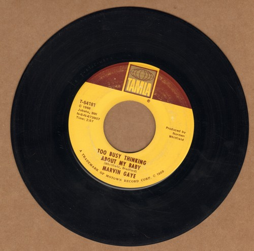 Gaye, Marvin - Too Busy Thinking About My Baby/Wherever I Lay My Hat (That's My Home)  - VG7/ - 45 rpm Records