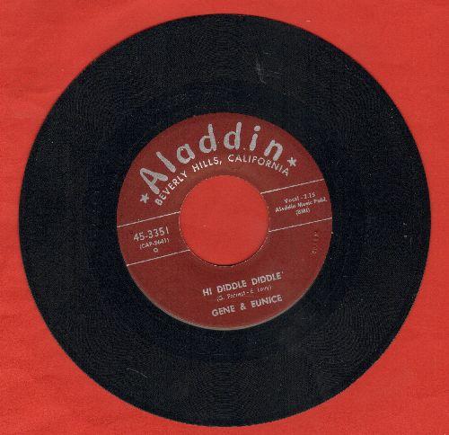 Gene & Eunice - Hi Diddle Diddle/Bom Bom Lulu - EX8/ - 45 rpm Records