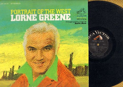 Greene, Lorne - Portrait Of The West: The Search, Geronimo, Mule Train, I'm A Gun, Nellie Cole, Home On The Range (vinyl STEREO LP record) - NM9/NM9 - LP Records