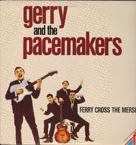 Gerry & The Pacemakers - Ferry Cross The Mersey: How Do You Do It, Unchained Melody, Imagine, Roll Over Beethoven (vinyl STEREO LP record, re-issue of vintage recordings) - NM9/NM9 - LP Records