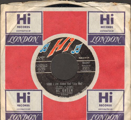 Green, Al - Here I Am (Come And Take Me)/I'm Glad You're Mine (with Hi company sleeve) - NM9/ - 45 rpm Records