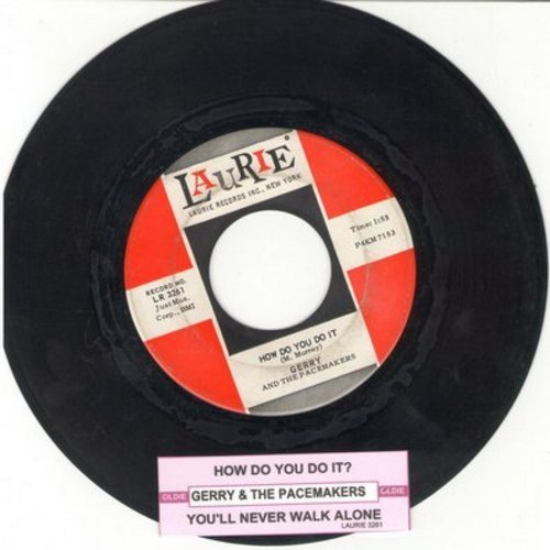Gerry & The Pacemakers - How Do You Do It?/You'll Never Walk Alone (first pressing with juke box label) - EX8/ - 45 rpm Records