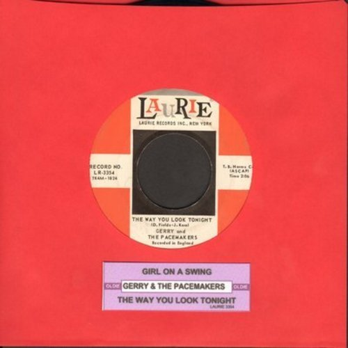 Gerry & The Pacemakers - Girl On A Swing/The Way You Look Tonight (with juke box label) - VG7/ - 45 rpm Records