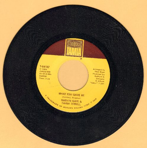 Gaye, Marvin & Tammi Terrell - What You Gave Me/How You Gonna Keep It (After You Get It) - M10/ - 45 rpm Records